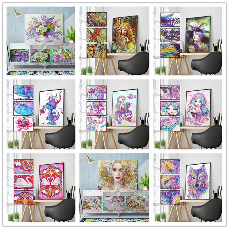 5D DIY Diamond Lukisan Khusus Diamond Bordir Karakter Kartun Lukisan Cross Stitch Mosaic Dekorasi
