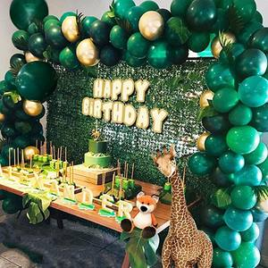 Image 2 - Jungle Safari Theme Party Supplies Green Balloons Garland Arch Kit Birthday Baby Shower Forest Party Christmas Decorations
