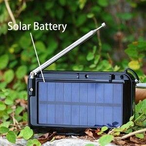 Image 4 - جديد الطاقة الشمسية المحمولة FM جيب سماعات راديو صغيرة تعمل لاسلكيًا مشغل موسيقى مع مصباح يدوي ، مؤقت النوم ، دعم بطاقة TF