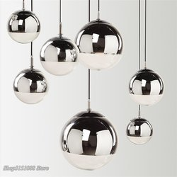 Lampe LED suspendue en forme de boule de verre dorée au Design moderne, luminaire décoratif d'intérieur, idéal pour un salon, une chambre à coucher ou un Bar