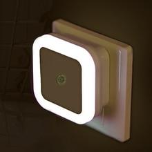 Luce notturna a LED Mini sensore di controllo della luce 110V 220V EU US Plug Nightlight Lamp per bambini bambini soggiorno illuminazione camera da letto