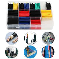 580pcs Accessories Connect Insulation Wrap Wire Electrical Equipment PE Flame Retardant DIY Heat Shrink Tube Assorted Sleeving