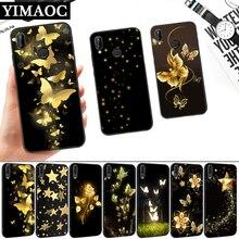 Golden Butterflies Sars Flower Silicone Soft Case for Huawei P8 P9 P10 P20 P30 Lite Pro P Smart Z Plus