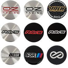 4 pçs/lote 50mm oz racing volk rays enkei ssr centro da roda do carro hub tampa adesivo