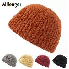 цена на New Autumn hats 2019 Winter knitted Hat Beanie Women men Unisex Short Cap czapka zimowa bonnet homme hiver beanies for men