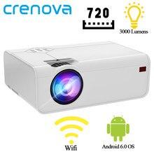 Crenova mini projetor a13 (android opcional) 1280*720p resolução suporte 4k com wifi 3d bluetooth casa cinema projetor