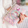 Kawaii Unicorn Spiral Notebook Set Cute DIY A6 Weekly Planner Diary Paper Notepads for Kids Student Gift Stationery Writing Pad