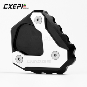 Image 2 - Kickstand Side Stand Plate Pad For BMW G310GS G 310GS G 310 GS G310R 2017 2018 Enlarge Extension Kickstand Support Plate Pad