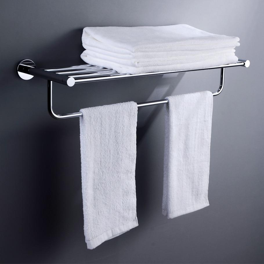 Copper Base Stainless Steel Sanitary Ware Toilet Bathroom Hardware Hanging Rack Double Layer Towel Rack Storage