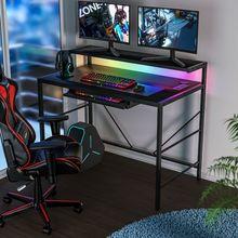 RGB LED Gaming Tisch Kommt mit Desktop Buchse Laptop Tisch Computer Schreibtisch Tisch Schlafzimmer Möbel Wohnzimmer Schreibtische meubles