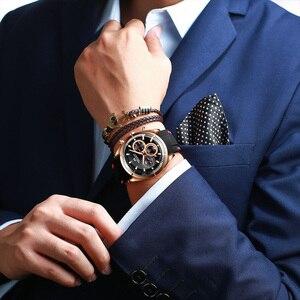 Image 5 - Relogio Masculino MEGALITH חדש ספורט הכרונוגרף גברים שעונים למעלה מותג יוקרה קוורץ שעון גבר עמיד למים סיליקון רצועת שעון גברים
