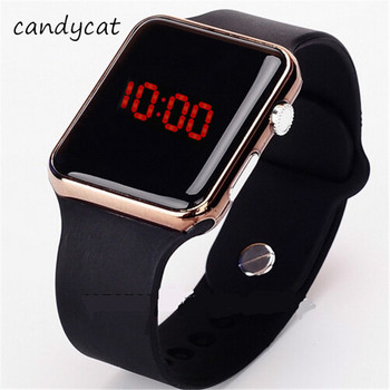 CandyCat 2020 Men Sport Casual LED Watches Military Silicone Wrist Watch Clock Students Adult Couple