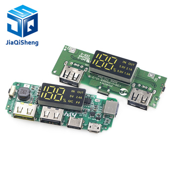 Lithium Battery Charger Board LED Dual USB 5V 2.4A Micro/Type-C USB Mobile Power Bank 18650 Charging Module Circuit Protection 1