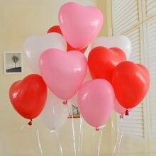 20 pçs vermelho branco rosa amor em forma de coração látex balões casamento presente de casamento balões de hélio festa de aniversário inflável bolas de ar