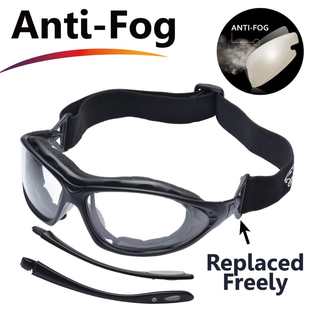 SAFEYEAR Safety Glasses Z87+  Lab Work Protective Anti-fog Seal Eye Protection Goggles Work Glasses EN166
