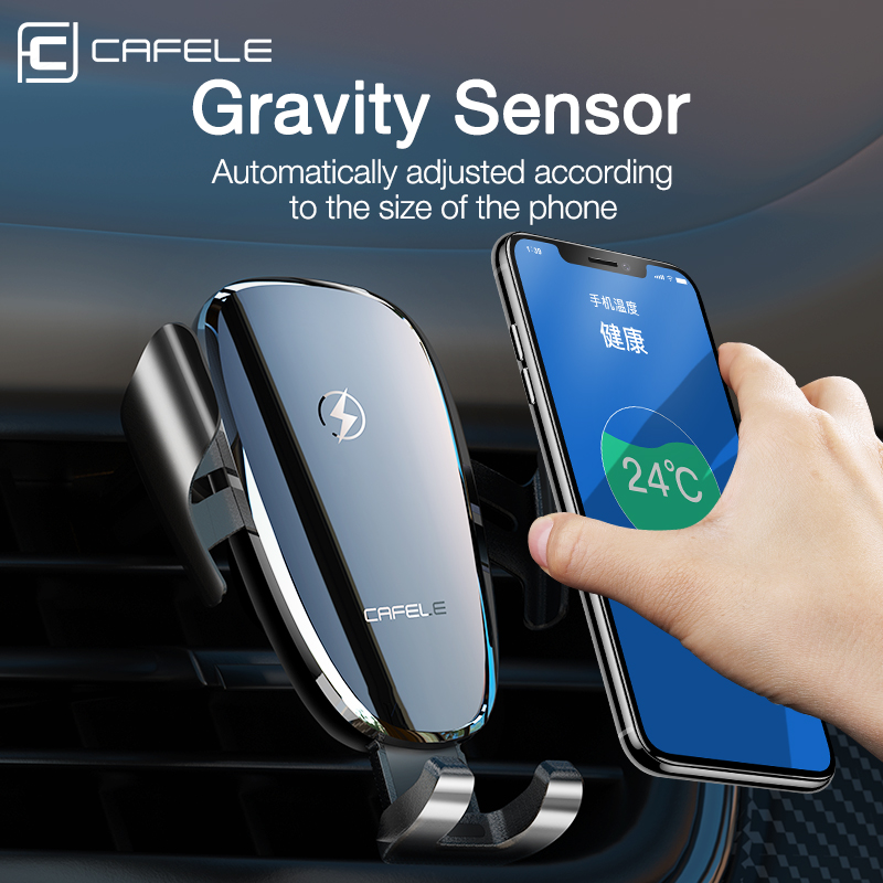 Cafele Luxury Wireless Car Charger, For Phone In Car Wireless Charger Intelligent Infrared Wireless Charging Car Phone Charger