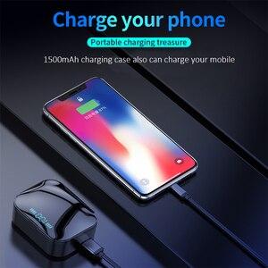 Image 5 - Auriculares TWS inalámbricos por Bluetooth 5,0, auriculares Hifi con pantalla de potencia de 1500 mAh y Control táctil de graves