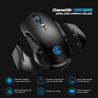 GameSir GM300 Mouse da gioco Wireless da 2.4GHz con piastre laterali magnetiche sostituibili e contrappeso, 16000 DPI