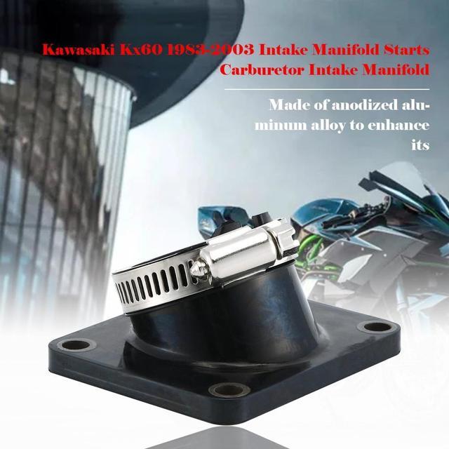 For Kawasaki Kx60 1983 2003 Intake Manifold Starts Carburetor Intake Manifold Perfect Fit Of The Rubber Interface|Intake Manifold|   -