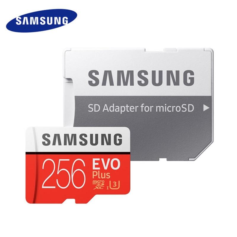 Carte mémoire Micro SD SAMSUNG 8 go 64 go 128 go 256 go EVO Plus Class10 TF carte C10 SD Card95MB/S UHS-1 MicroSD U3 cartao de mémoire