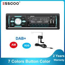 Essgoo 1 din автомобильное радио dab rds am mp3 плеер bluetooth