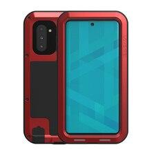 Aşk Mei Metal Samsung kılıfı Galaxy Note 10 Artı Darbeye Dayanıklı Telefon Kapak Için Samsung Not 10 Coque Sağlam Zırh Anti  güz Durumda