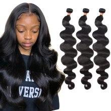 BrazilianBody Wave HairWeaveBundles 3040inchShor