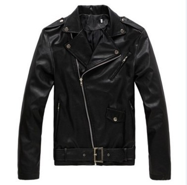Hot Selling Korean-style Locomotive Slim Fit Leather Coat MEN'S Leather Jacket Coat England Fashion Men Leather Coat