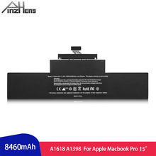 PINZHENG Laptop Battery For Apple Macbook Pro 15 inch A1618 A1398 2013 2014 2015 Years Battery With Screwdrivers Tools jigu new a1618 laptop battery for 2015 macbook pro retina a1398 15 15 4 11 36v 99 5wh rechargeable battery wholesales