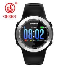 OHSEN Bluetooth Bildschirm Touch Smart Uhren IP68 wasserdicht Herren Sport Uhr Herz Rate Monitor Smartwatch für IOS Android telefon(China)