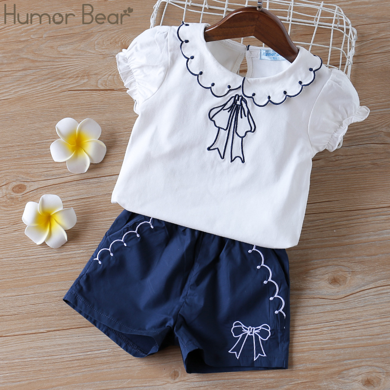 H86cad23e09e6447890a71bc13091caca3 - Humor Bear Baby Girl Clothes Hot Summer Children's Girls' Clothing Sets Kids Bay clothes Toddler Chiffon bowknot coat+Pants 1-4Y