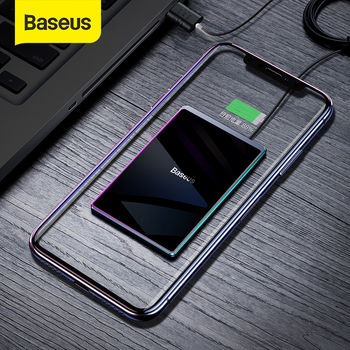 Baseus Ultra-thin Wireless Charger For iPhone Xs Max XR 8 Portable 15W Fast Wireless Charging Pad for Huawei Mate 20 Pro P30 Pro