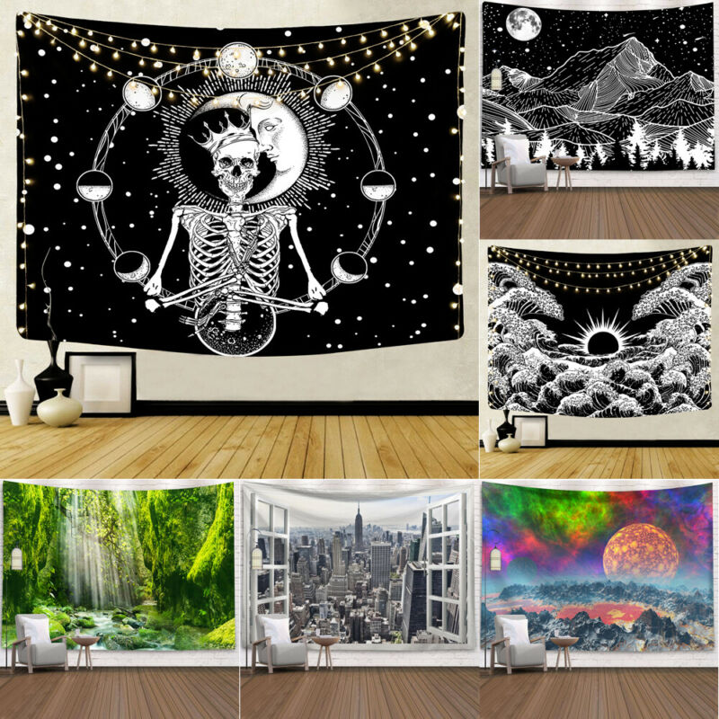 Hippie Psychedelic Tapisserie Wandbehang Mandala Zimmer <font><b>Tagesdecke</b></font> Haus Dekor image