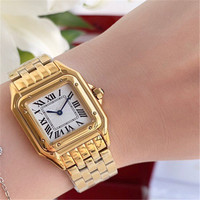Hot Sale 316 Steel Band Women blue pin sport watch Wrist Watch Waterproof Rome Dial watches Gifts