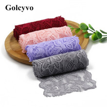 1Meter Soft Elastic Lace Trim Ribbon Apparel Sewing & Fabric DIY Garment Crafts 8cm