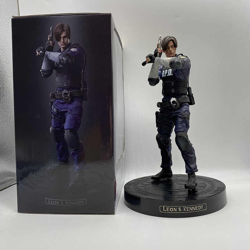 Oyun karakteri Leon Scott Kennedy Action Figure koleksiyon Model oyuncak 12 inç