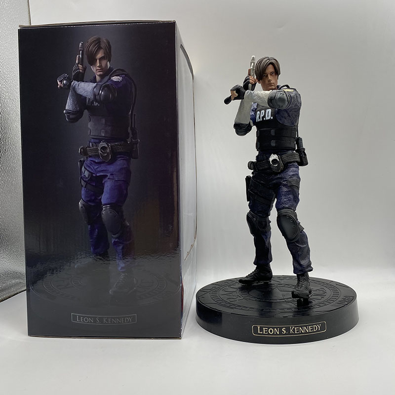 Leon Figure Game Character Leon Scott Kennedy Action Figure Collectable Model Toy Gifts