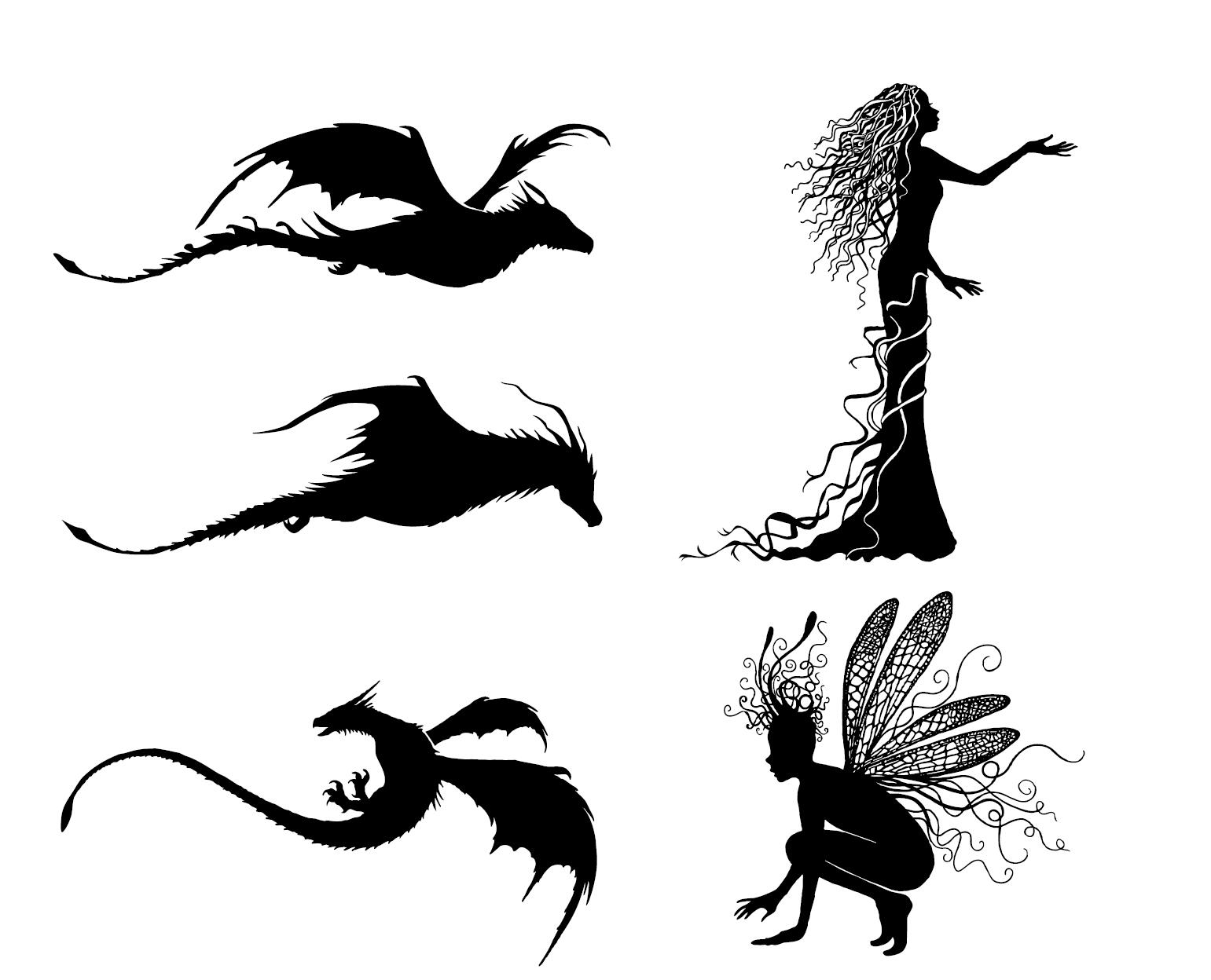 Dragon Fairy Transparent Clear Stamp For DIY Scrapbooking/Card Making  C613