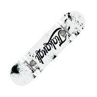 letter skateboard 4 wheel skate board kids adulst scooter longboard pulley wheel double snubby mapleskate board alloy roller