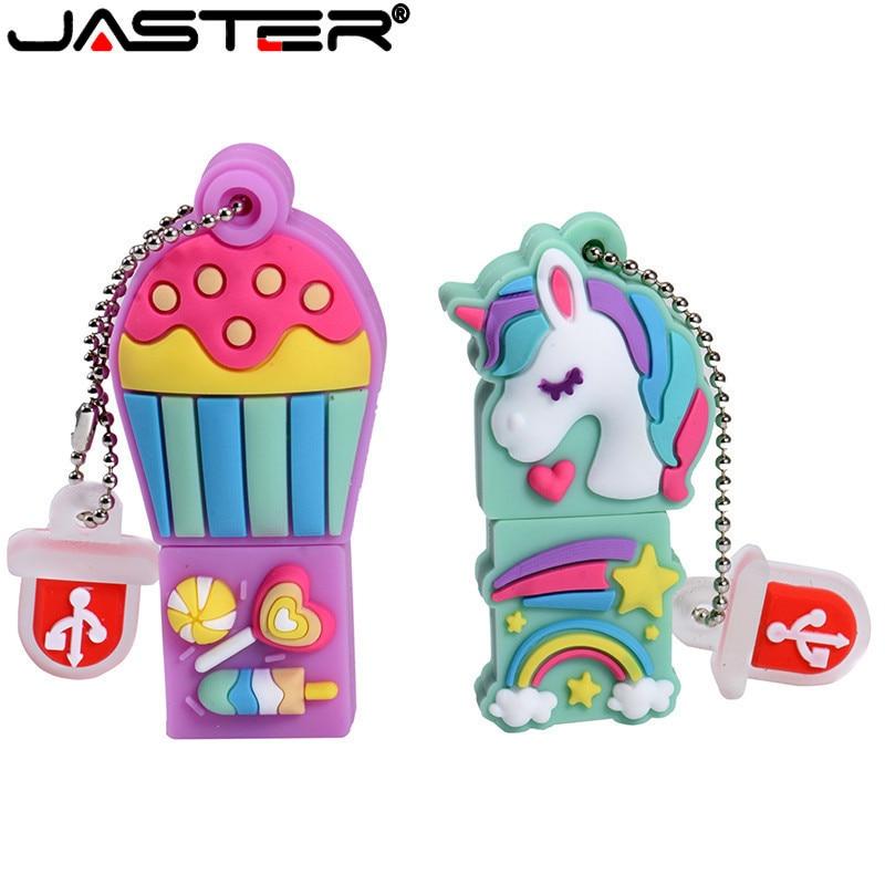 JASTER Cartoon 64GB Cute Hot Air Balloon Unicorn USB Flash Drive 4GB 8GB 16GB 32GB Pendrive USB 2.0 Usb Stick