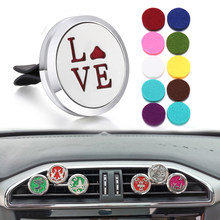 New Aromatherapy Jewelry Love 316L Stainless Steel Car Perfume Diffuser Lockets Car Freshener Aroma Diffuser Pendant Necklace(China)