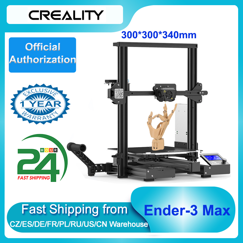 Creality Ender 3 Max 300*300*340mm Large Build Volume High Precision 3D Printer Kit Integrated Structure Support Silent Printing|3D Printers| - AliExpress