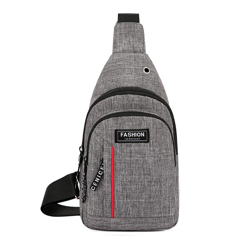 2020 Korean-style New Style Shoulder Bag MEN'S Backpack Multi-functional Sports Waterproof Men's Chest Pack Outdoor Oblique Bag
