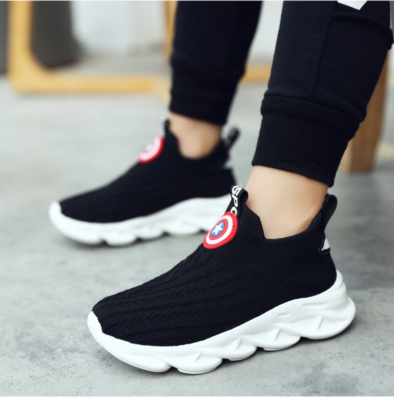 2019 Autumn boys sneakers kids shoes girls travel casual sports Socks shoes Mesh children's breathable running shoes (18)