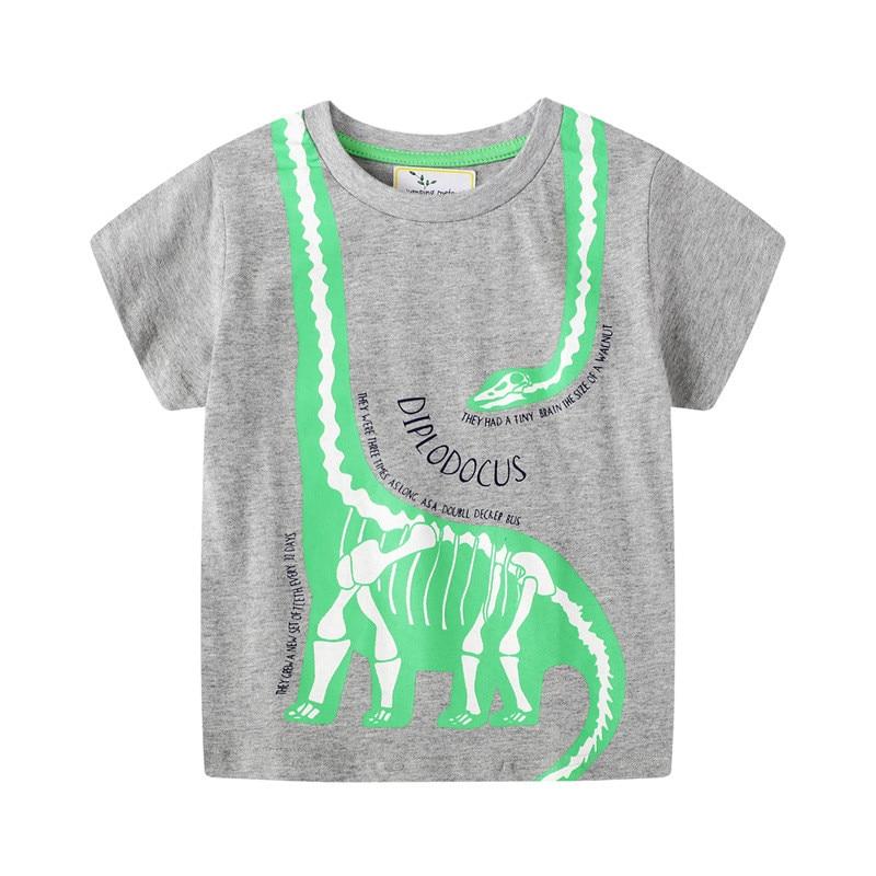 H86cbb6663bb44b7e841a7abb72e160c71 jumping meters Baby Boys Cartoon T shirt Kids New Tees Short Sleeve Summer Clothes With Printed Dinosaurs Children T shirts