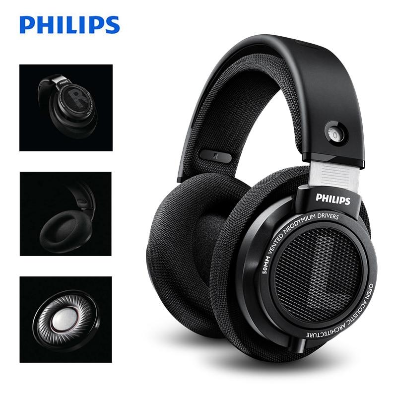 Fone de ouvido original philips shp9500, alta qualidade, som, headset com microfone, redução de