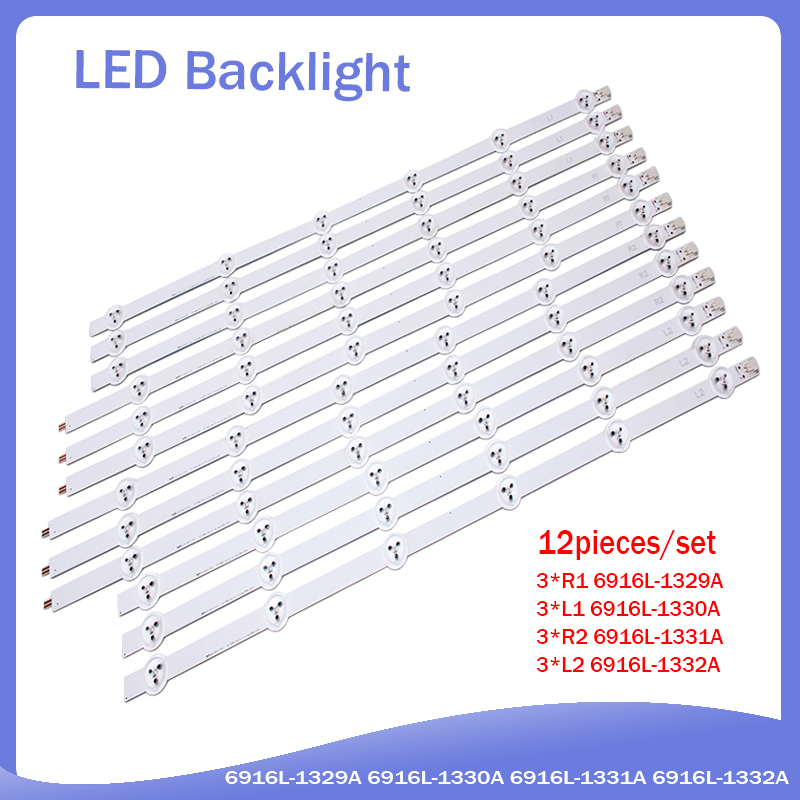 New 1 Set=12 Pieces LC550DUN LED Strip 55