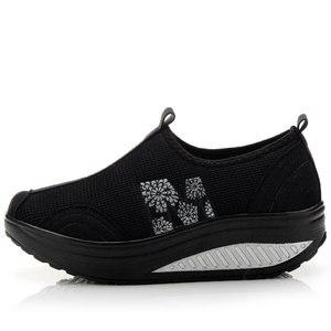 Image 2 - MWY Balanço Das Mulheres Sapatos Casuais Sapatos de Caminhada Malha Respirável Cunhas Sapatos Altura Crescente Sapatos Femininos Deportivas Mujer