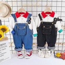 Neugeborenes Baby Sommer Formale Kleidung Set CARTOON Geburtstag Jungen Insgesamt Anzug Weißes Hemd Kleinkind Gentleman Outfit Tuch Sets
