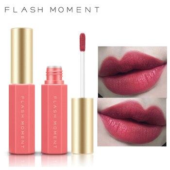 Maquiagem batom líquido fosco lábios compõem sedoso metade hidratante labial gloss maquiagem cosméticos coreano batom nutritivo lipgloss